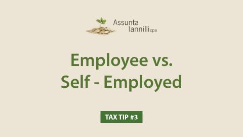 #3 - Employee vs. Self-Employed